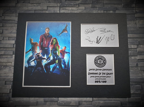 Guardians of the Galaxy Signed Autograph Display