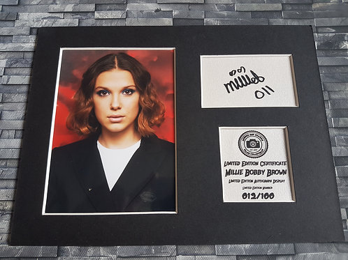Millie Bobby Brown - Signed Autograph Display - Stranger Things