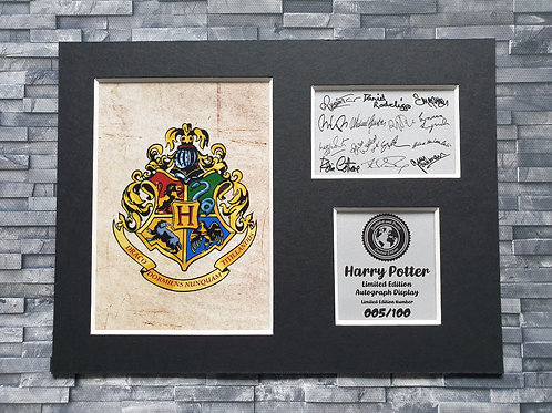 Harry Potter Cast Signed Autograph Display