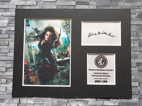 Helena Bonham Carter Signed Autograph Display - Bellatrix - Harry Potter
