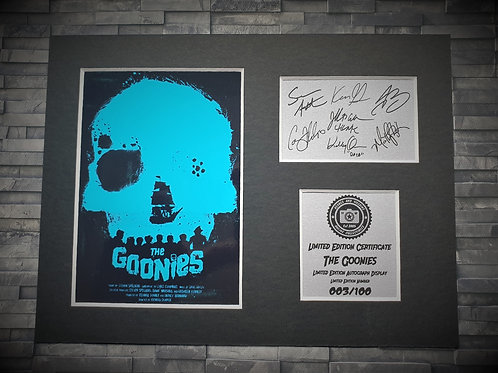 The Goonies Signed Autograph Display