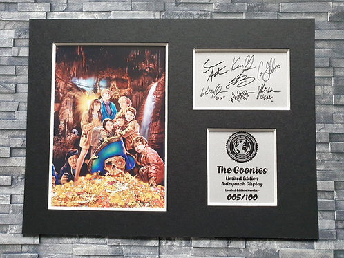 Goonies Signed Autograph Display