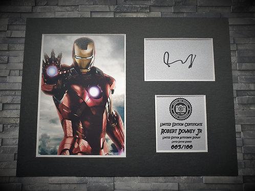 Robert Downey Jr Signed Autograph Display - Iron Man - Avengers