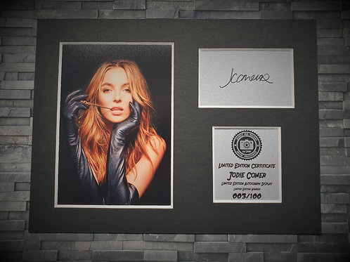Jodie Comer Signed Autograph Display - Villanelle - Killing Eve