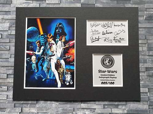 Star Wars Signed Autograph Display