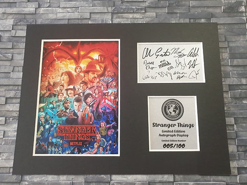 Stranger Things Signed Autograph Display