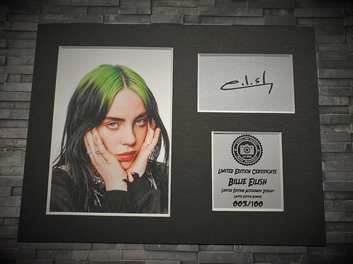 Billie Eilish Signed Autograph Display
