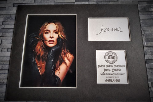 Jodie Comer - Signed Autograph Display - Villanelle, Killing Eve