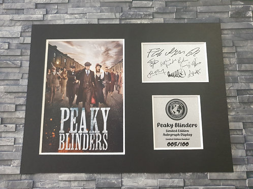 Peaky Blinders Signed Autograph Display