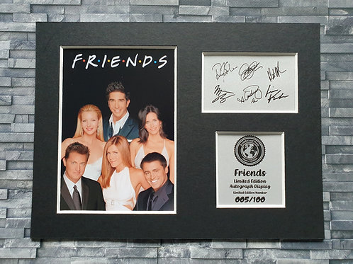 Friends Cast Signed Autograph Display