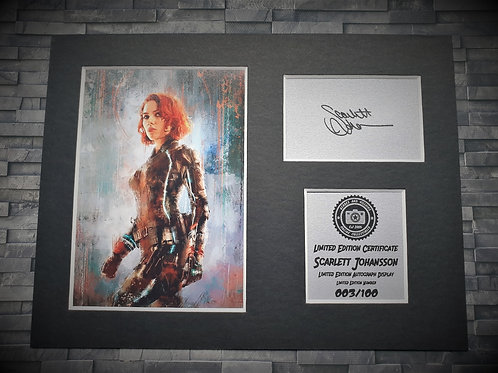 Scarlett Johansson Signed Autograph Display - Black Widow