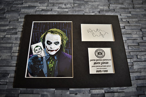 Heath Ledger Signed Autograph Display - The Joker - Batman: The Dark Knight