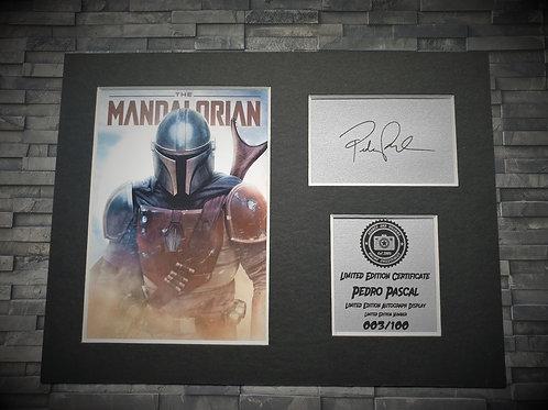 Pedro Pascal Signed Autograph Display - The Mandalorian