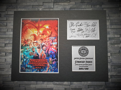 Stranger Things Signed Autograph Display ( Cast )