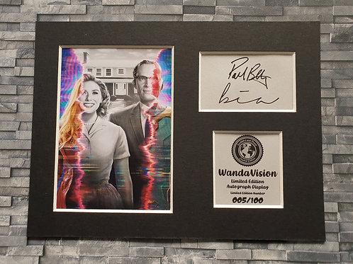 WandaVision Signed Autograph Display - Paul Bettany and Elizabeth Olsen