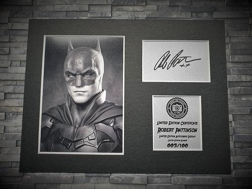 Robert Pattinson Signed Autograph Display - Batman
