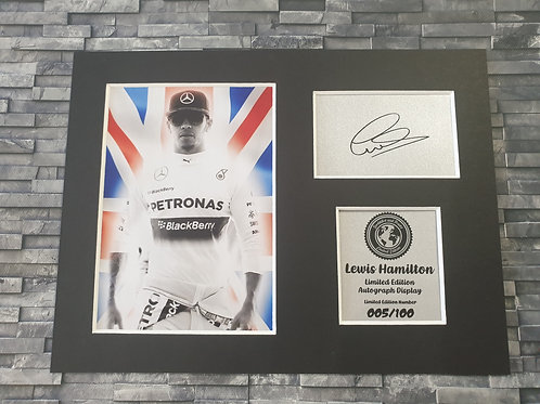 Lewis Hamilton Signed Autograph Display
