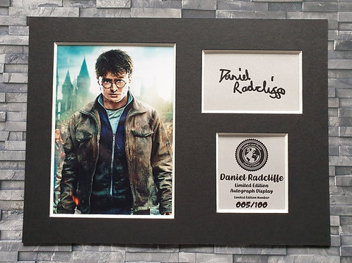 Daniel Radcliffe Signed Autograph Display  - Harry Potter