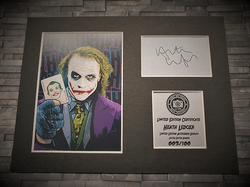 Heath Ledger Signed Autograph Display - The Joker