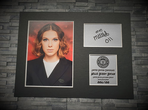 Millie Bobby Brown Signed Autograph Display - Stranger Things