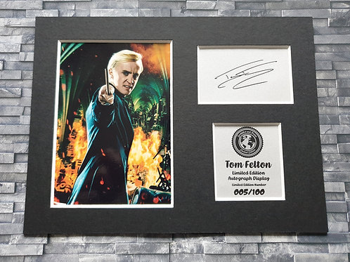 Tom Felton Signed Autograph Display - Draco Malfoy - Harry Potter