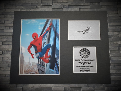 Tom Holland Signed Autograph Display - Spider-Man - Avengers