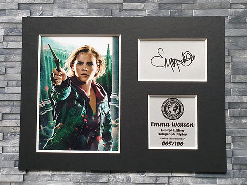 Emma Watson Signed Autograph Display - Hermione Granger - Harry Potter
