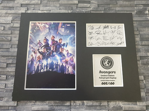 Avengers Signed Autograph Display