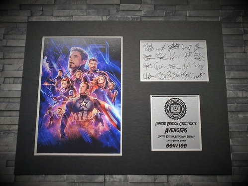 The Avengers Signed Autograph Display