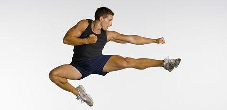 Guy kickboxing