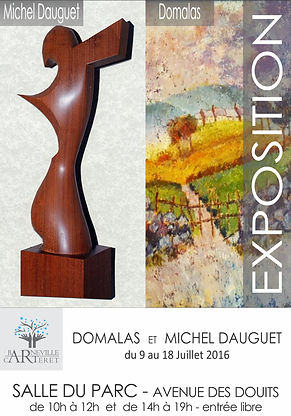 Invitation Domalas et Michel Dauguet ArtBC