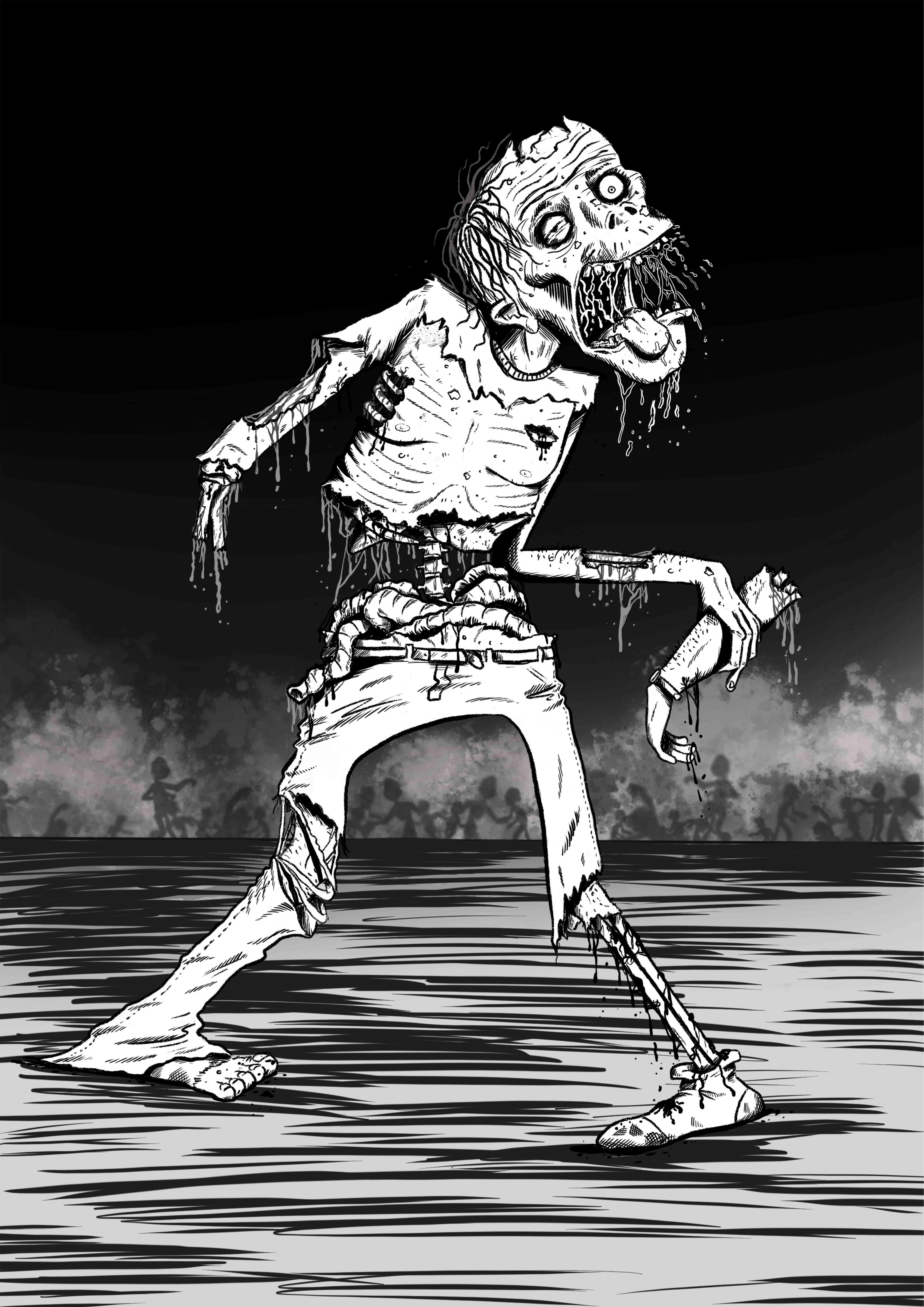 Comic book style zombie