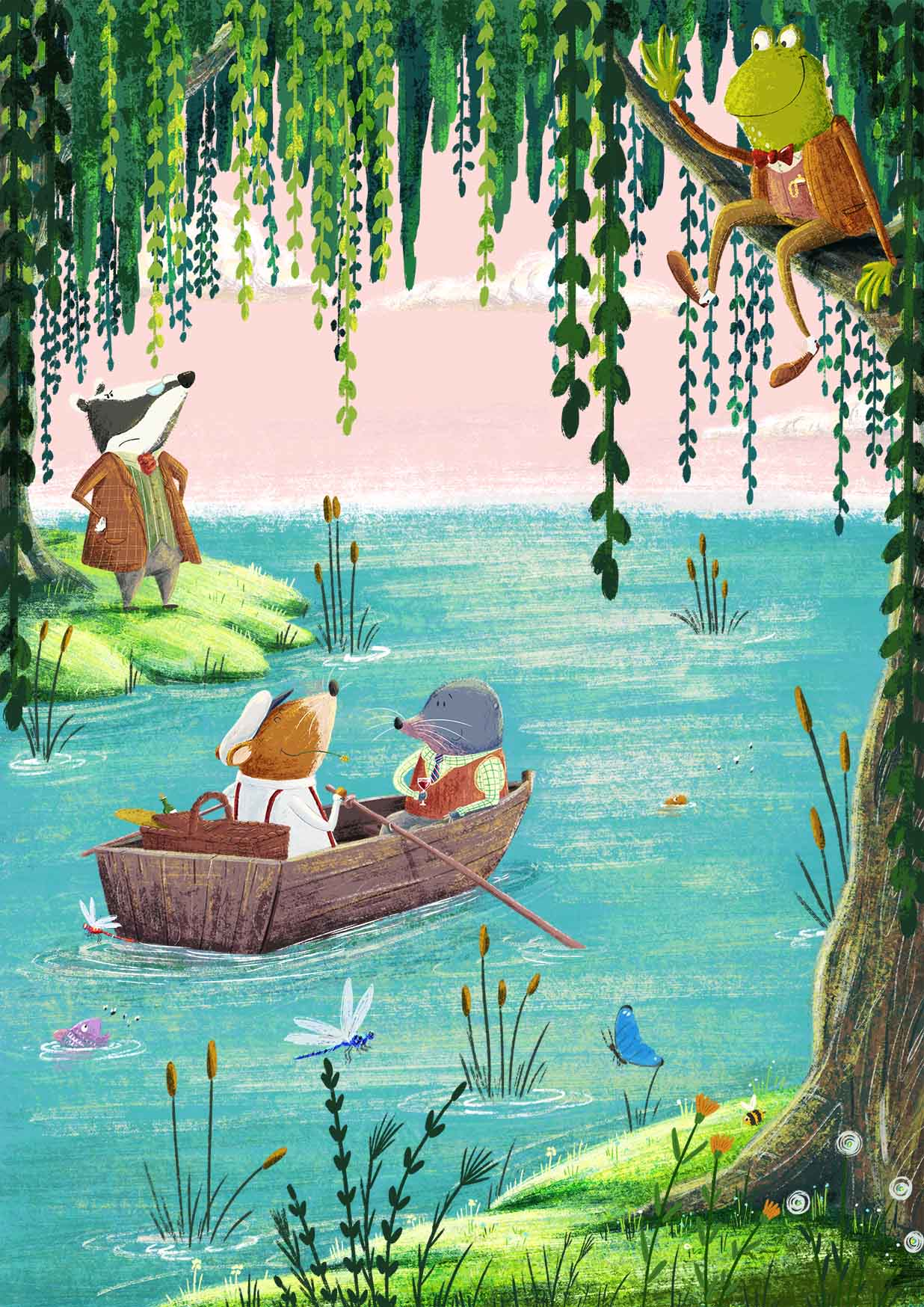 wind in the willows image pink sky