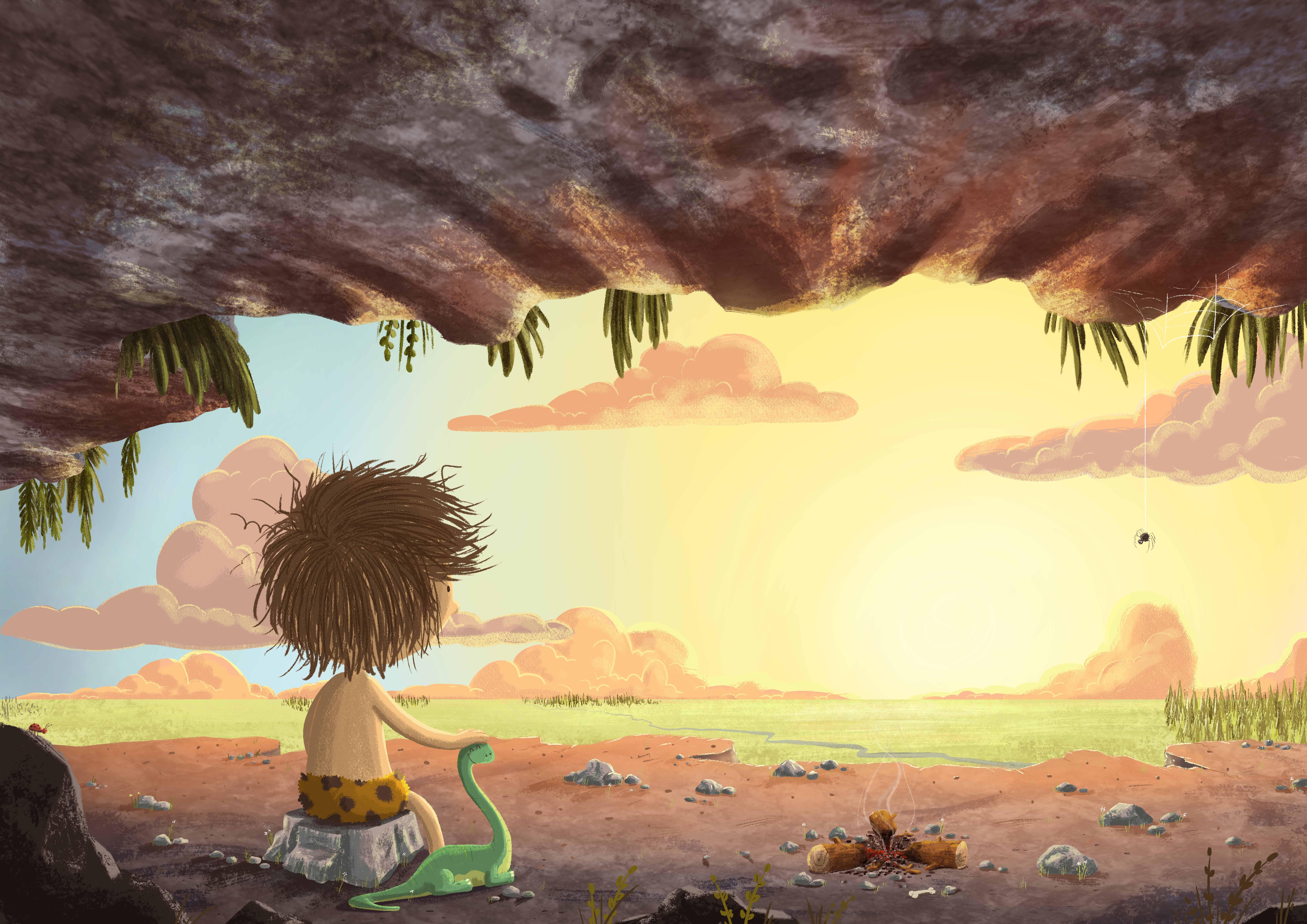 Caveboy sunrise
