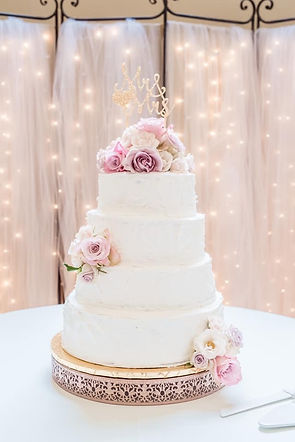Blush gold wedding cake