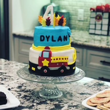 Dallas fireman firetruck cake