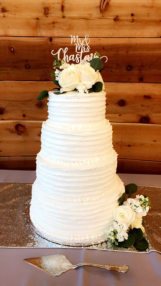 Dallas rustic wedding cake