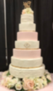 Dallas Blush wedding cake