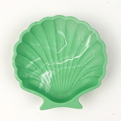 Shell Trinket Tray - Green Pop