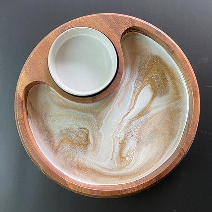 Resin & Acacia Wood Serving Bowl