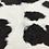 Thumbnail: VIZELLO Silken Baby Calf ® - Black & White, with a hint of Chocolate