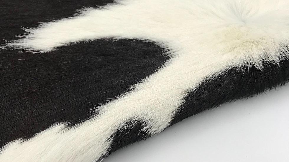 VIZELLO Silken Baby Calf ® - Black & White with a hint of Chocolate