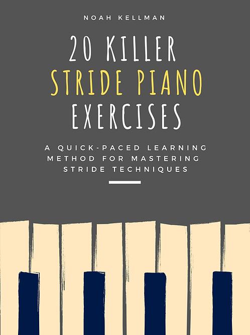 20 Killer Stride Piano Exercises