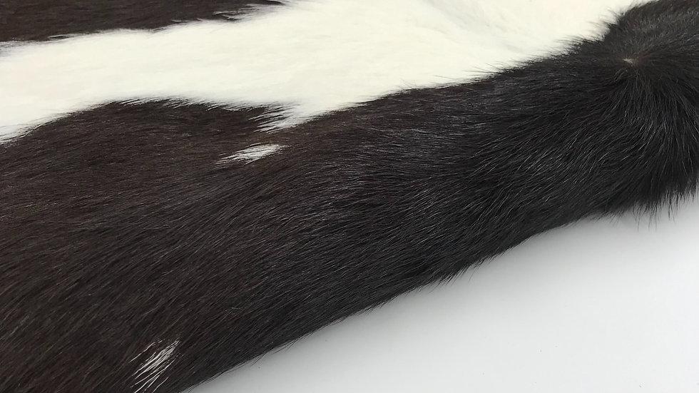 VIZELLO Silken Baby Calf ® - Black & White, with a hint of Chocolate