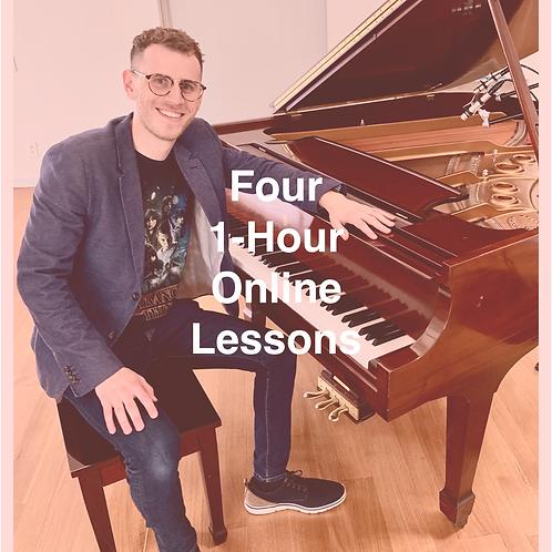 Four 1-Hour Online Lessons