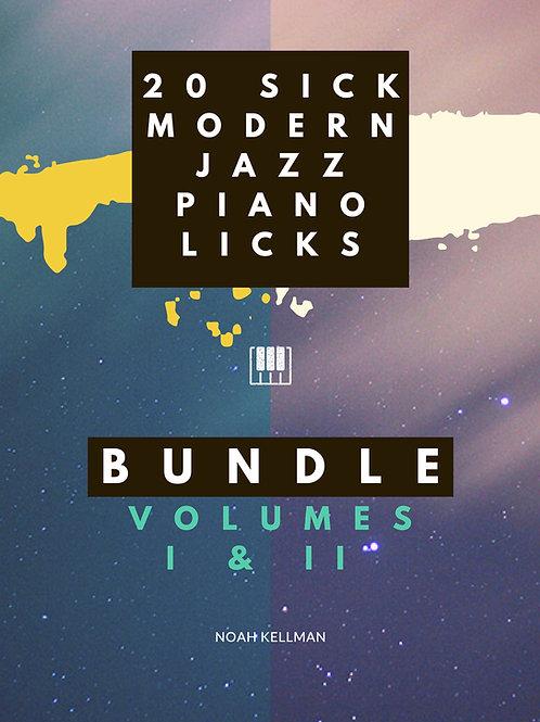 20 Sick Modern Jazz Piano Licks - BUNDLE: VOLUMES I & II