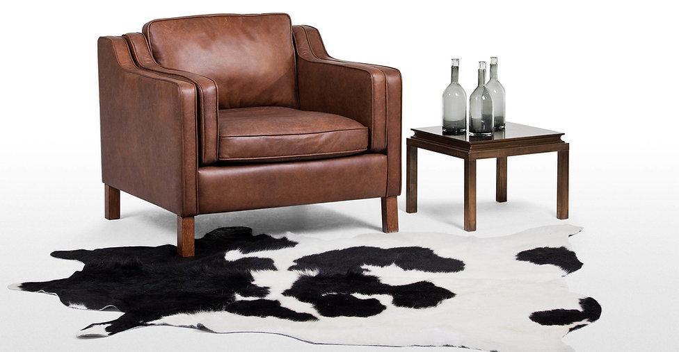VIZELLO Silken Baby Calf rug in colour black and white