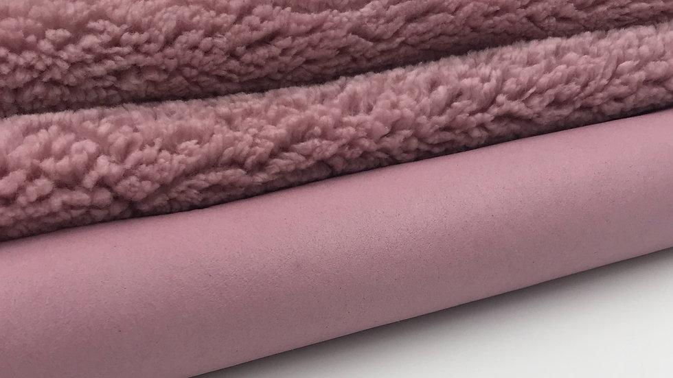 Merino Wool Shearling Leather - Blush