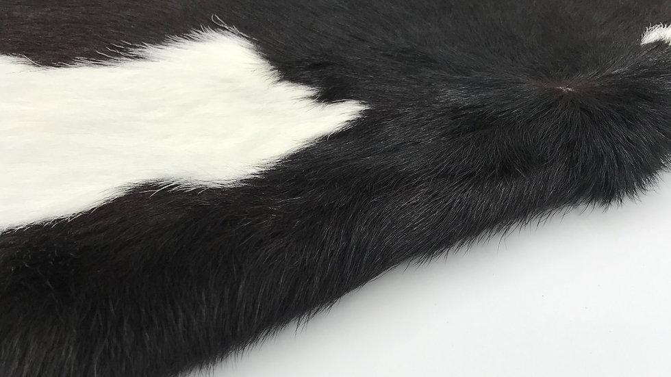 VIZELLO Silken Baby Calf ® - Black and White, hint of Chocolate