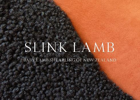 Slink lamb shearling
